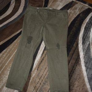 Olive boyfriend jeans by Torrid size 18 short